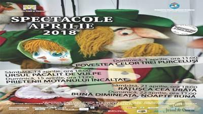 Spectacole in week-end si ateliere de creatie, de luni, la Teatrul Colibri