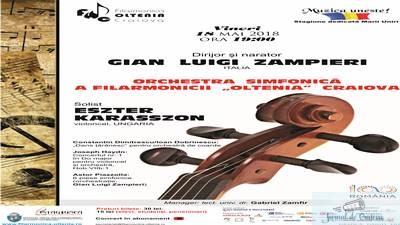 "Concert Haydn-Piazzolla cu dirijorul Gian Luigi Zampieri la Filarmonica ""Oltenia"" Craiova"