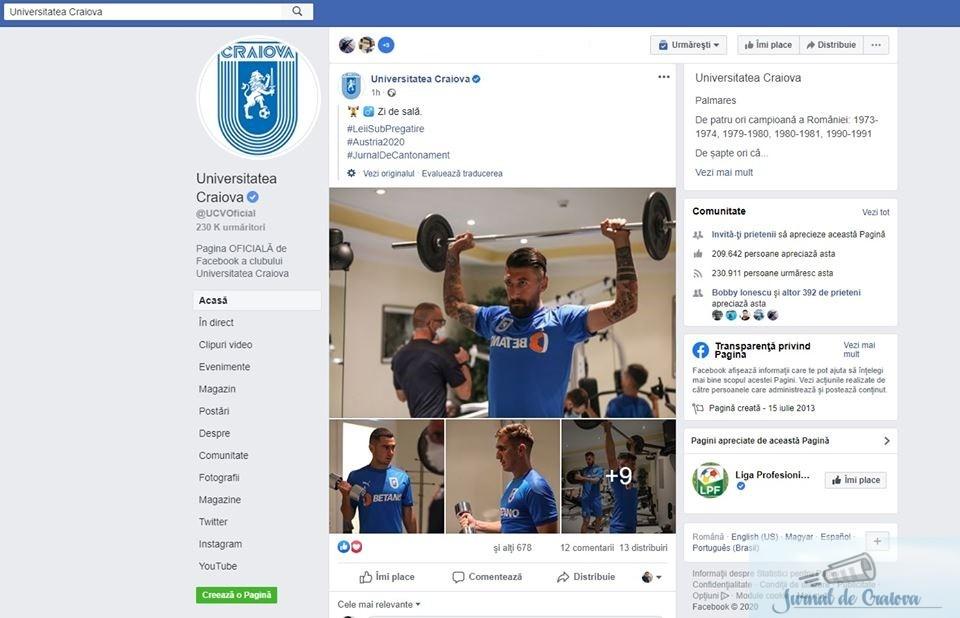 Fotbal : CSU Craiova a luat in cantonament si preparatorul fizic care are coronavirus ! 1