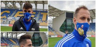 Premiera in Romania ! Universitatea Craiova lanseaza mastile de protectie personalizate cu jucatorii echipei